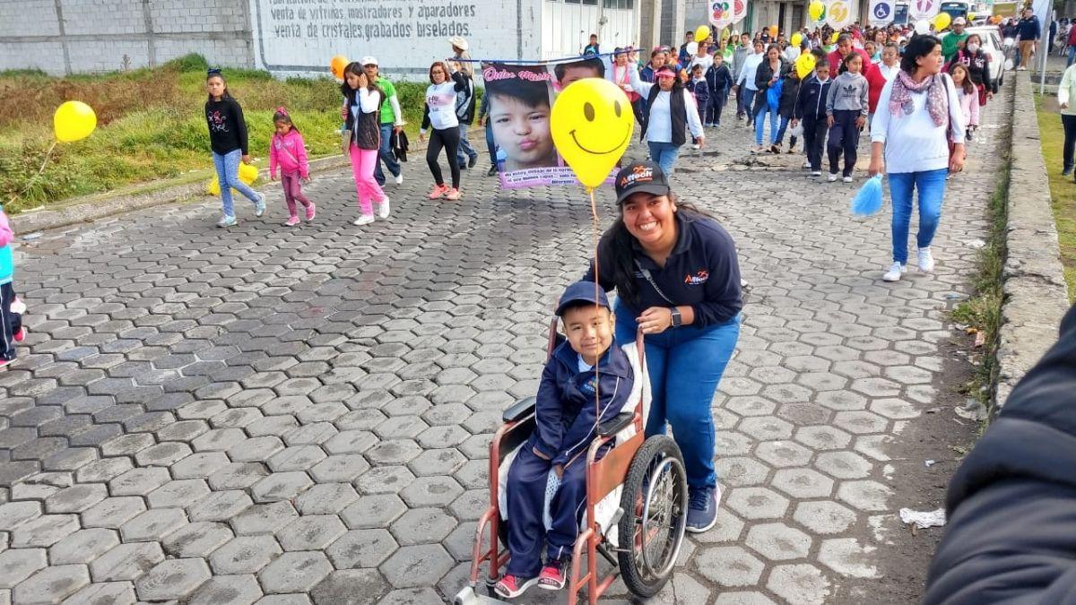 charity walk with children